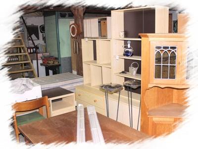 Brugte møbler fra et loppemarked